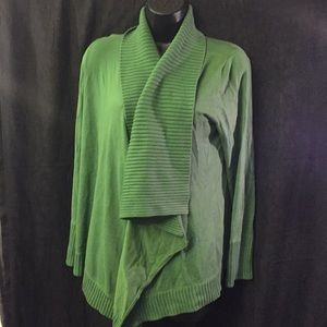 Style & Co Green Cardigan Size Large